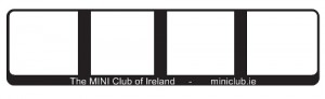 miniclub.ie numberplate surrounds now available