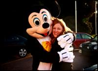 Sarah and Mickey celebrating a job well done