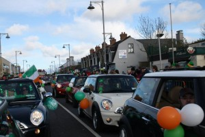 The Mini Club of Ireland win Best Newcomer Prize at Ballincollig St. Patrick's Day Parade :