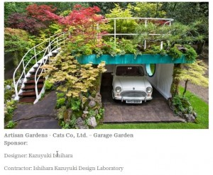 Mini Garage Garden at Chelsea Flower Show :