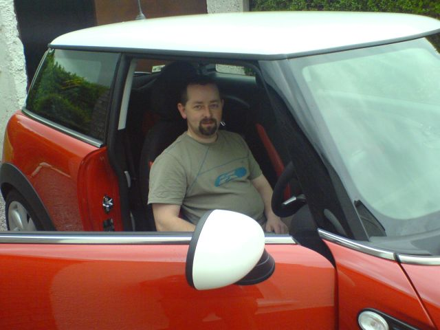 Fergal McDermott and one of his many MINIs