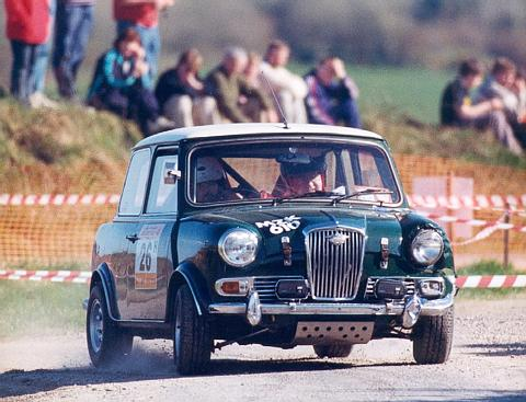 Fergals rally car, a Mini derrived Wolseley Hornet