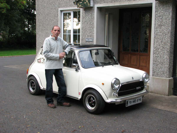 Jon Alexander, MCOI member, and his Innocenti Mini
