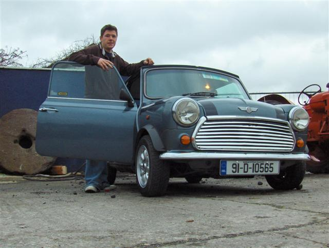 Mark Coleman and his Mini